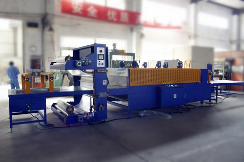 Single side sealing of door shrinking machine