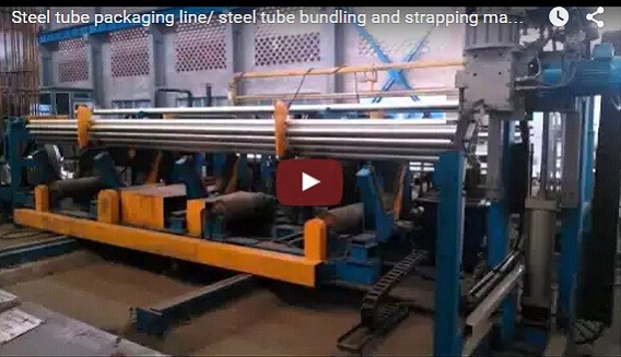 Automatic packing line for pipe stacking and binding